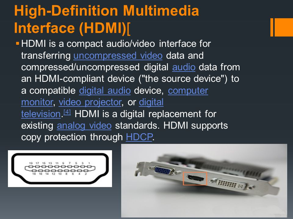 High-Definition Multimedia Interface (HDMI)[